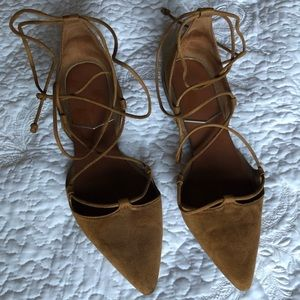 Zara Caramel Brown Strappy Flats